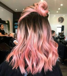 Pink Blonde Hair, Pastel Pink Hair, Brown Ombre Hair, Hair Color Purple, Hair Dye Colors, Hair Color For Black Hair, Blonde Color, Cool Hair Color, Purple Ombre