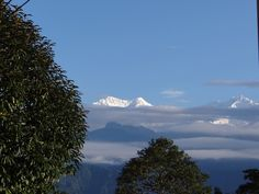 View of Kanchendzonga from a village in West Sikkim