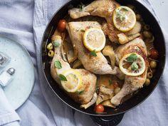 Braised chicken and artichokes - Recipes - Kitchen Stories