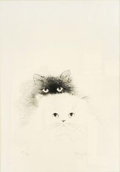 Two Cats by Miyako Sekikawa (Ref#: JP6337)