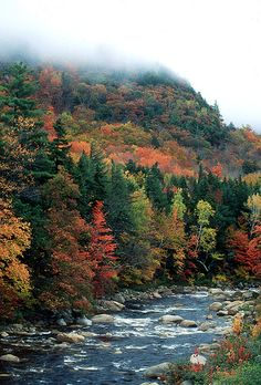 October of Mad River in New Hampshire