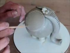 Ceramic elephant, good handbuilding lesson for kids
