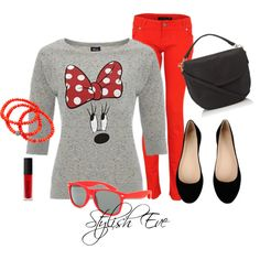"""Grey & Red Minnie Style"" by stylisheve on Polyvore"