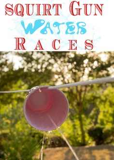 Beat the heat and avoid summer boredom with Squirt Gun Races. Create a Squirt Gun obstacle course with items you probably already have around the house.