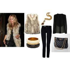 Rachel Zoe fashion - love the fur