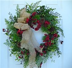 Winter Wreath Christmas Wreath Holiday Wreath  by SweetIvyWreaths, $59.00