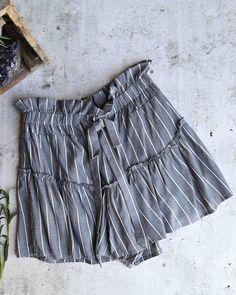 e156996952 Cotton candy la - martine stripe shorts with ruffle hem - denim