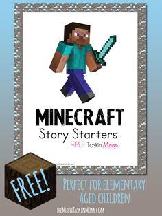 FREE Minecraft Story Starters - The Multi Taskin' Mom