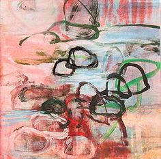 Michael Mazur Rocks and Water 2, 2003, monotype, image and paper size 16 1/2 x 16 1/2 inches