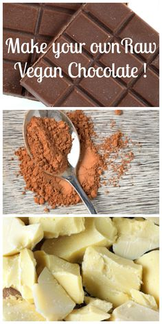 Super easy and quick to make. Never buy chocolate again! Super easy and quick to make. Never buy chocolate again! Vegan Candies, Raw Vegan Desserts, Raw Vegan Recipes, Vegan Treats, Vegan Foods, Vegan Snacks, Vegetarian Recipes, Vegan Raw, Health Desserts
