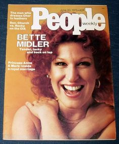 Items similar to People Weekly Vintage Magazine Bette Midler June 1975 Princess Anne Royal Family Gay interest Kitschy Tacky Xaviera Hollander Fiat on Etsy People Magazine, Life Magazine, Bette Midler, Old Magazines, Vintage Magazines, Royal Marriage, Princess Anne, Tv Guide, American Singers