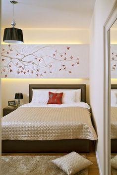 indirekte beleuchtung hinter dem bett www. Black Bedroom Furniture Sets. Home Design Ideas