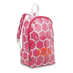 b314ce971323 Patterned Backpack www.southerncharmembroidery.com Monogram Backpack