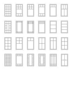 Casement window grille patterns: http://classicwindowsinc.com/wp-content/uploads/2012/01/Casement-Window-Grille-Patterns1.gif