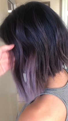 Bob Hair Color, Hair Color Purple, Hair Dye Colors, Hair Color For Black Hair, Hidden Hair Color, Peekaboo Hair, Lavender Hair, Burgundy Hair, Silver Hair