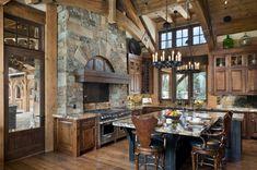 original diseño de cocina rústica lujosa