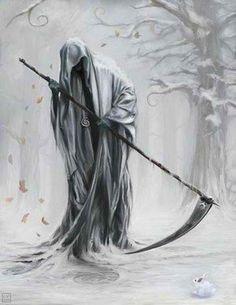 Grim Reaper Angel of Death Grim Reaper Art, Grim Reaper Tattoo, Don't Fear The Reaper, Grim Reaper Quotes, Female Grim Reaper, Dark Reaper, Dark Fantasy, Fantasy Art, Art Sombre