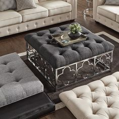 Decoration with Victorian style - Home Fashion Trend Square Ottoman Coffee Table, Ottoman Table, Victorian Style Homes, Victorian Decor, Ottoman Decor, Living Room Ottoman Ideas, Moroccan Theme, Decorating Coffee Tables, Quatrefoil