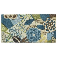 can't decide if I like this rug enough - blue Floral Rug - Pier1 US