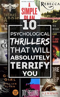 Ten of the scariest psychological thrillers you absolutely MUST read: