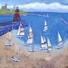 Sailing From South Shields - seaside print - coastal art - seaside picture - boats - beach - River Tyne - from a painting by Joanne Wishart Seaside Pictures, Alaskan Bush People, Coastal Art, Art Uk, Naive Art, Places Of Interest, Bird Design, Beach Art, Limited Edition Prints