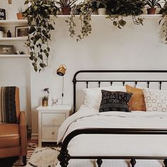 If our bedroom looked as great as @branchabode's, we'd probably never leave. 🙅🏼 (Image: @branchabode, tagged with #apartmenttherapy)