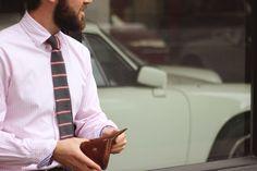 Olive Pink Stripe Neck Tie – Heywood 1922