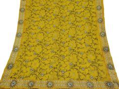 Vintage Dupatta Long Indian Scarf Pure Chiffon Hand by VintageHaat