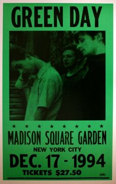 Green Day - Madison Square Garden - December 17, 1994
