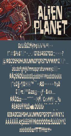 Download another cool and eclectic GAUTFONT Alien Planet – 316 glyphs - 4 weights #GautFonts #ScienceFiction Alien Planet, Glyphs, The Expanse, Weights, Science Fiction, Planets, Novels, Writing, Cool Stuff