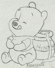 Renata& Little Things: Teddy Bear Puff Baby .- Coisinhas da Renata: Riscos Ursinho Puff Baby… Renata& Little Things: Teddy Bear Puff Baby … - Disney Drawings Sketches, Cute Disney Drawings, Cute Easy Drawings, Art Drawings Sketches Simple, Pencil Art Drawings, Animal Drawings, Drawing Ideas, Drawing Disney, Mickey Mouse Drawings