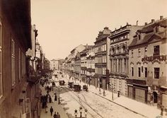 Bohême Böhmen Prague Prikopy Prag Graben Vintage albumen print Tirage a Top Hotels, Find Hotels, Pont Charles, Prague Photos, Austro Hungarian, History Photos, More Pictures, Czech Republic, Old Photos