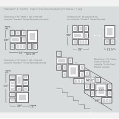 Picturewall Frame Kit template, like the stairway layout.