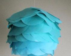 DIY Hanging Paper Lantern Kit- Caribbean Blue