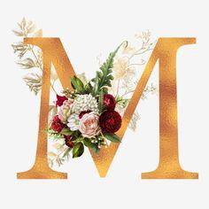 M Wallpaper, Alphabet Wallpaper, Wallpaper Iphone Cute, Frame Floral, Flower Frame, Flower Letters, Monogram Letters, Stylish Alphabets, Instagram Highlight Icons