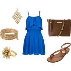 You can find all of the Stella and Dot accessories on my website Www.stelladot.com/daynajackson  I love accessorizing with gold in a outfit with such a good color choice like blues, greens...  Thanks for pinning!