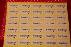 35 rectangular stickers Handmade by pescaefragola on Etsy, €3.00
