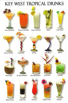Tropical Drinks postcard
