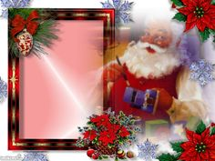 Santa Christmas card frame. Click to add your photo