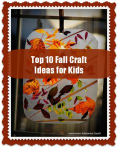top 10 fall crafts for kids- using apples, leaves, scarecrows, trees and pumpkins!