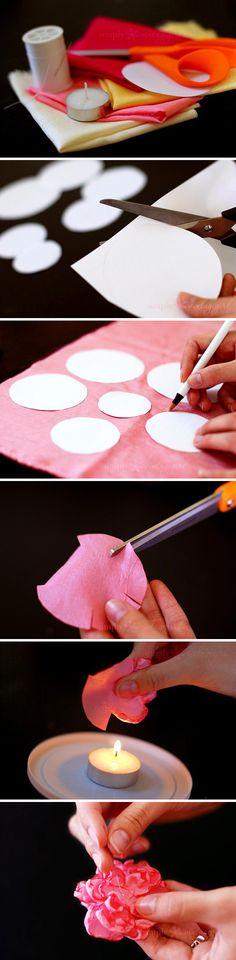 Super Ideas for hair accessories handmade flower tutorial Handmade Flowers, Diy Flowers, Fabric Flowers, Paper Flowers, Cloth Flowers, Organza Flowers, Pink Fabric, Pretty Flowers, Tissue Flowers