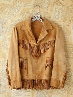 Free People Vintage Suede Fringe Jacket, $468.00