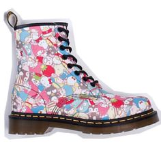 Doc Martens with hello kitty, my melody, and little twin stars!!
