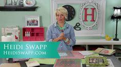 Heidi Swapp Stenciling Tips & Techniques. Learn new stenciling tips and techniques using the new Heidi Swapp stencils and color shine sprays...