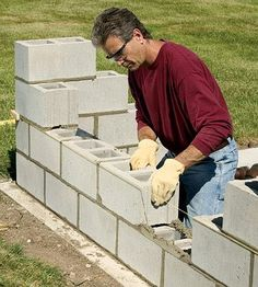 Bring privacy to your backyard with a DIY concrete block wall. Our step-by-step instructions will show you how.