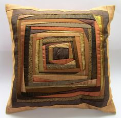 Decorative Pillow Case Brown Patchwork Pillow Cover Cushion Cover 16x16 Inch Pillow Cover Designers Pillow Hostess Gift Mother's Day Gift