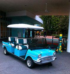 The Pop Century Golf Carts - I need one.
