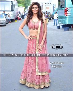 Karishma Tanna Pink Beautiful Lehenga Choli  Product Info : CODE : BT-1008 DUPATTA:NYLONE NET LEHENGA:NYLON NET BLOUSE : NYLON NET& ROW SILK INNER : SATIN WORK : THREAD WORK TYPE : LEHNGA  Price : 2400 INR Only ! #Booknow  World Wide Shipping Available !  PayPal / WU Accepted  C O D Available In India ! Shipping Charges Extra  Stitching Service Available  To order / enquiry  Contact Us : 91 9054562754 ( WhatsApp Only )