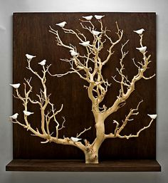 Birds in Trees - Large by Chris Stiles: Ceramic and Wood Wall Art available at www.artfulhome.com