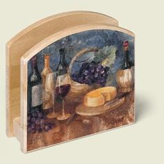 Amazon.com: Wine Theme Kitchen Wooden Napkin Holder: Home & Kitchen